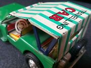 Vintage Traveling Car Jeep 502 Mf 739 China Friction 1960's Tin Toy Works Parts