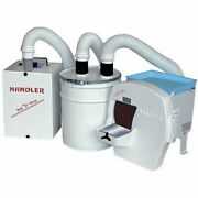 Handler Dry Trimmer System Complete W Trimmer Dust Collector And Canister 31-dts