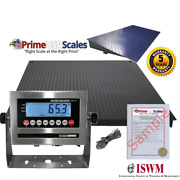 New Floor Scale 72 X 48 6' X 4' With A Ramp 2,500 Lbs X .5 Lb Metal Display