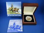 2010 1 Tuvalu - The Man From Snowy River - 1oz Silver Proof Coloured Coin
