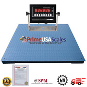 Optima Scale Ntep Legal For Trade 5x5 Ft Heavy Duty Floor Pallet Scale 20000 Lb