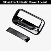 04-14 Ford F-150/08-16 F-250 Super Duty Gloss Black Tailgate Handle Cover W/kh
