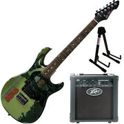 Peavey Walking Dead Michonne Splash Guitar With 6 Amp And Stand