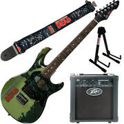 Peavey Walking Dead Michonne Splash Guitar With 6 Amp Group Strap And Stand