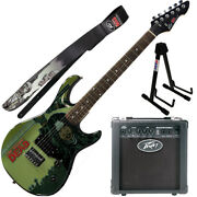 Peavey Walking Dead Michonne Splash Guitar With 6 Amp Walker Strap And Stand