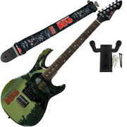 Peavey Walking Dead Michonne Splash Guitar With Group Strap And Hanger