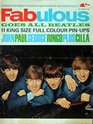 Fabulous Magazine 15 Feb 1964 . The Beatles Front Cover . Not 208