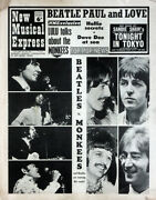 Nme 22 July 1967 . The Beatles V The Monkees Front Cover