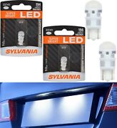 Sylvania Zevo Led Light 194 White 6000k Two Bulbs License Plate Tag Replace Fit