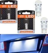 Sylvania Zevo Led Light 168 White 6000k Two Bulbs License Plate Replace Oe Fit