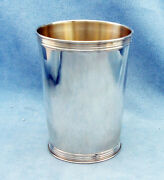 Vintage Solid Sterling Silver Derby Mint Julep Cup - Marked Sterling, No Mono