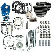 Sands 107 124 Oil Cooled Power Package Gear Drive Chrome Harley Touring Softail
