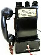 Gray Pay Station / Telephone W/ Handset Model 23d Circa 1900and039s
