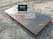 4and039x8and039 Floor Scale Optima Op-916 Pallet Scale Ntep Digital Indicator 10000 Lb