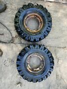 Filled Gravely Rim And Tires 18x5.70-8 Pair