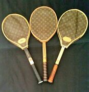Vintage Tennis Racquet With Lv Covers