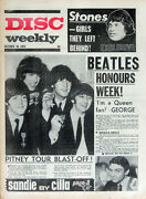 Disc Weekly 30 Oct 1965 . The Beatles Mbe Honours Front Cover . Not Nme