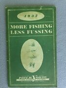 Rare Vintage 1937 Paul H. Young Fly Rod And Fine Fishing Tackle Catalog