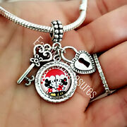 Valentines Day Heart Mickey Minnie Mouse Charm Bracelet Necklace Jewelry Gift
