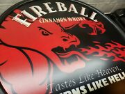Fireball Cinnamon Whiskey Double Sided Sign-hard To Find