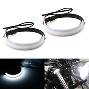 Universal Wrap Around Mount White Led Driving Running Light Strip For Motorcycle