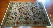 New 8and039 X 10and039 Unique Hand Knotted Indian Rug - 100 Wool Pile