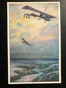 1915 Stuttgart Germany Picture Postcard Cover German Airforce Early Aviation