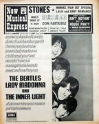 Nme 16 Mar 1968 . The Beatles Lady Madonna Front Cover . Rolling Stones