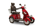 Ewheels Ew-46 Mobility Scooter 4 Wheel - W/captainandrsquos Seat Up To 400lbs Red