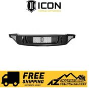 Icon Impact Series Front Bumper For 17-19 Ford Raptor 95150 Black