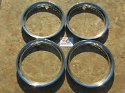 14 Standard Width Triple Chrome Plated Stainless Steel Trim Rings Set Of 4