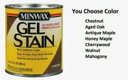 Minwax Wood Finish Transparent Oil-based Gel Stain 1 Qt. You Pick Color