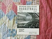 1946-47 Michigan State Spartans Basketball Media Guide Yearbook 1947 Program Ad