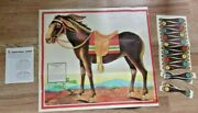 Vintage Wwii Era Pin The Tail On The Donkey Game Toy In Box Dated 1941 Great