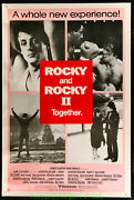 Rocky I And Ii Movie Poster Original 40x60 Inch Sylvester Stallone 1980 Boxing