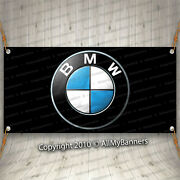 Bmw Banner Flag Ft Logo Car Show Garage Wall M Coupe Roadster M Power