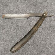 John S. Holler And Co 6-1/4 Straight Razor 46 Celebrated Barbers Notch Real Horn