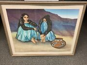 R. C. Gorman Chinie Framed Artist Edition 1982 Signed And Numbered 36 X 26.5