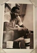 Vintage Nike Basketball Poster Moses Malone Black And White