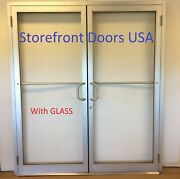 Commercial Butt Hinge 6and0390 X 7and0390 Clear Pair Storefront Door Framecloser And Glass