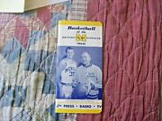 1964-65 Michigan Wolverines Basketball Media Guide Yearbook 1965 Final 4 Four Ad