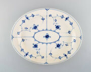 Antique Royal Copenhagen Blue Fluted Oval Dish. Early 1800's.