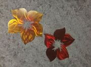 Metal Wall Art Flowers Hanging Large Home And Living Garden Front Porch Art