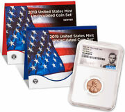 2019 W Lincoln Cent Ngc Ms 68 Pl Fr Lincoln + 2019 Us Mint Set Sku58255