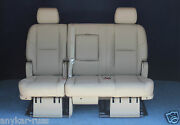 2014 2013 2012 2011 Escalade Esv 2nd Row Bench Seat Cashmere Tan Leather