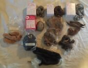 Lot Antique Vintage Doll Wigs Bell Pieces Mohair Human Hair Alpaca New Old Stock