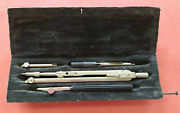 Vintage Technical Mathematical Drawing Instruments Geometry Mini Set Ussr