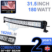 30 180w Curved Led Light Bar Combo Ip68 Driving Light Off Road 4wd Boat