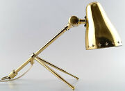 Boris Lacroix Brass Table Lamp/a Sconce On The Wall. France 1950s.