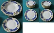 Zsolnay Hungary Salad/dinner/bread/soup Plates Antoinette 1960s China Midcentury